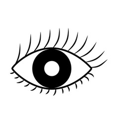 Sexy female eye icon vector
