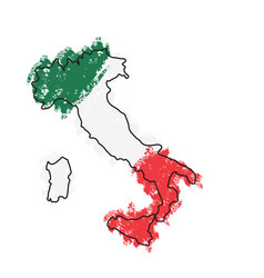 sketch of a map of italy vector image