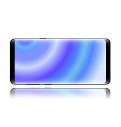 smartphone isolated horizontal on white background vector image vector image