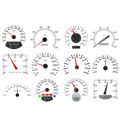 Speedometer and tachometer scales large vector