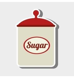 sugar pot design vector image