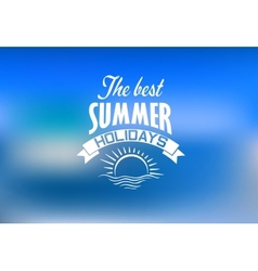 Summer holidays banner vector image