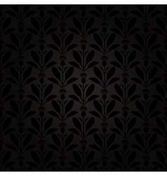 thistle pattern black vector image
