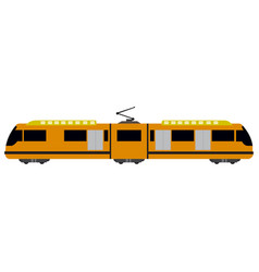 Train side view vector