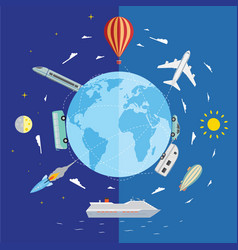 travel and tourism background vector image