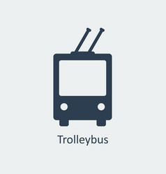 trolleybus icon silhouette icon vector image