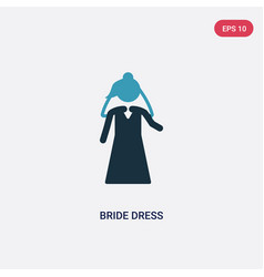 two color bride dress icon from people concept vector image