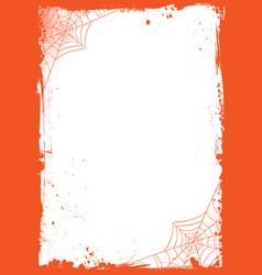 Vertical halloween banner background with grunge vector