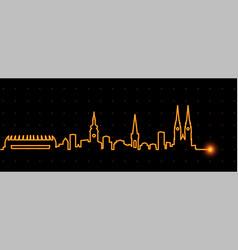 zagreb light streak skyline vector image