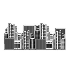black silhouette of city buildings vector image vector image