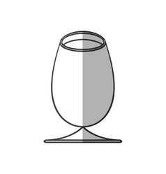 cup glass drink beverage alcohol shadow vector image