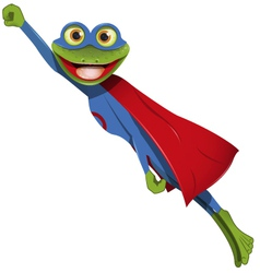 frog superman vector image vector image