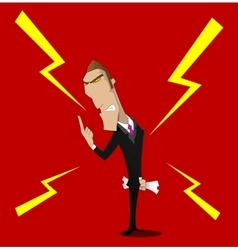 angry boss character vector image vector image