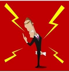 angry boss character vector image