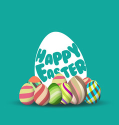 Easter egg hunt background for greeting card ad vector