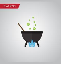 isolated cauldron flat icon magic element vector image