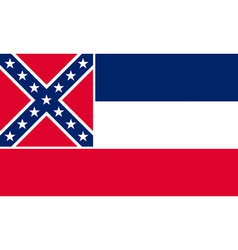 Mississippian state flag vector image vector image