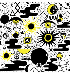 solar eclipse pattern vector image