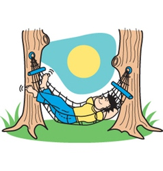 Guy in hammock vector