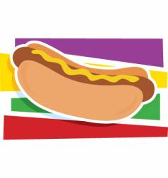 hot dog graphic vector image vector image