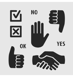 Icons Hand vector image vector image