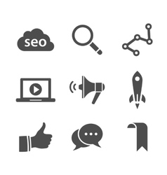 Search engine optimization icon set vector image