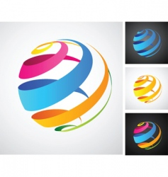 spiral globe icon vector image