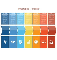 Timeline 7 options vector image