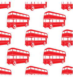 British pattern with double decker red bus vector