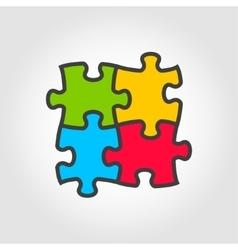 color puzzles icon vector image