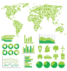 Eco infographic vector image vector image