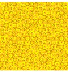 Seamless Circles Yellow vector image