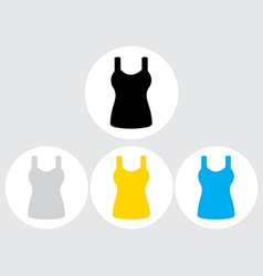 Singlet sleeveless flat icon the circle vector image