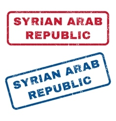 Syrian Arab Republic Rubber Stamps vector image vector image