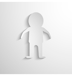 White paper figure of the man vector