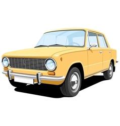 yellow car vector image vector image