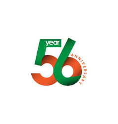 56 year anniversary template design vector