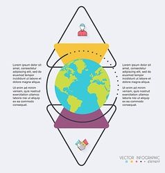 Abstract globe digital for Infographic Can be used vector
