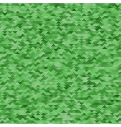 Abstract Mosaic Green Triangles Background vector image