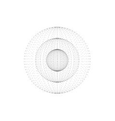 abstract spheres inside each other vector image