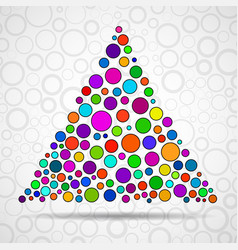 abstract triangle of color circles vector image