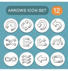 Arrows symbols set vector image
