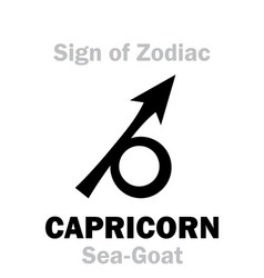 astrology sign of zodiac capricornus the vector image