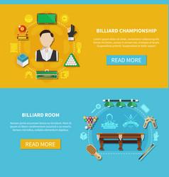 billiard championship horizontal banners vector image