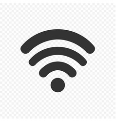 black wi fi icon on trasparent background wi fi vector image
