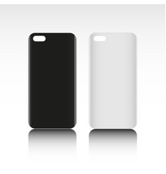 Blank phone case black and white colors vector