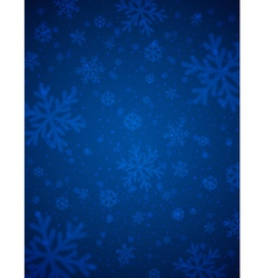 Blue background with blurred snowflakes vector