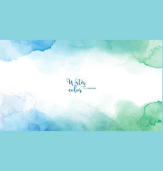 Blue green abstract watercolor background vector