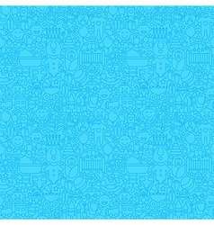 blue thin line baboy seamless pattern vector image