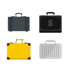 business case icon set flat style vector image